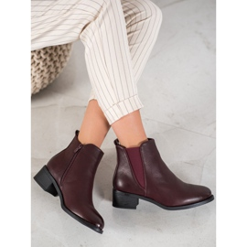 Ideal Shoes Classic boots with an elastic band red 3