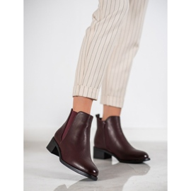 Ideal Shoes Classic boots with an elastic band red 2
