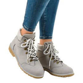 Gray hiking boots without insulation XDS1702 grey 1