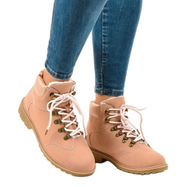 Pink insulated boots DS1702 1