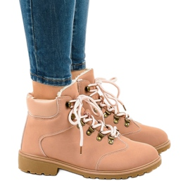 Pink insulated boots DS1702 3