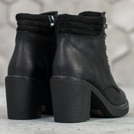 Queen Vivi Lace-up boots with eco leather black 5