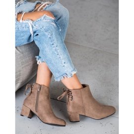Forever Folie Suede Booties With A Bow brown 1