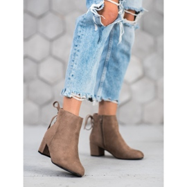Forever Folie Suede Booties With A Bow brown 2