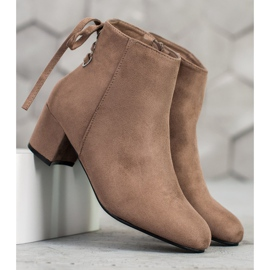 Forever Folie Suede Booties With A Bow brown 4