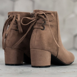 Forever Folie Suede Booties With A Bow brown 5