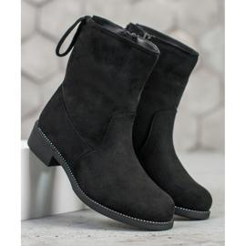 SDS Suede Booties black 2