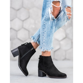 Goodin Black suede boots 1