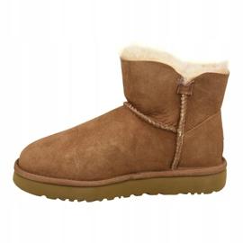 Ugg Mini Bailey Button Ii Shoes W 1016422-CHE brown 1