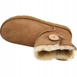 Ugg Mini Bailey Button Ii Shoes W 1016422-CHE brown 2
