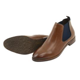 Brown Jodhpur boots Caprice 25327 navy blue 5
