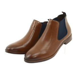 Brown Jodhpur boots Caprice 25327 navy blue 3
