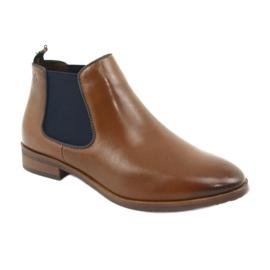 Brown Jodhpur boots Caprice 25327 navy blue 1