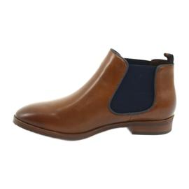 Brown Jodhpur boots Caprice 25327 navy blue 2
