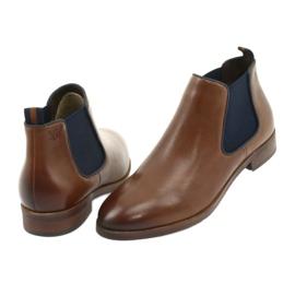 Brown Jodhpur boots Caprice 25327 navy blue 4
