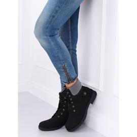 Black lace-up boots K-9926 Black 1