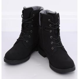 Black lace-up boots K-9926 Black 2