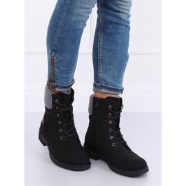 Black lace-up boots K-9926 Black 4
