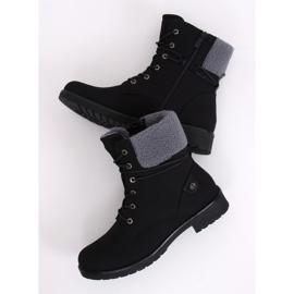 Black lace-up boots K-9926 Black 3