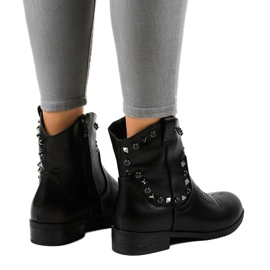 Black ankle boots with a L893-2 zipper 2