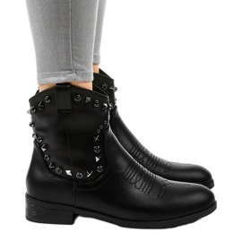 Black ankle boots with a L893-2 zipper 3