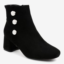 Black suede ankle boots on the L068 post 1