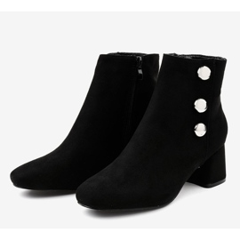 Black suede ankle boots on the L068 post 3