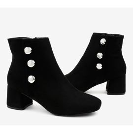 Black suede ankle boots on the L068 post 4