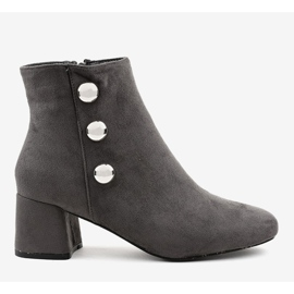 Gray suede boots on the L068 post grey 2