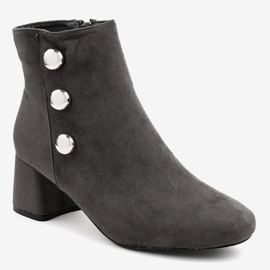 Gray suede boots on the L068 post grey 1