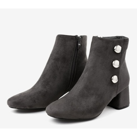 Gray suede boots on the L068 post grey 3
