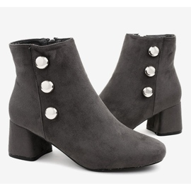 Gray suede boots on the L068 post grey 4
