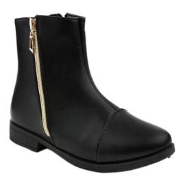 Women's black flat boots CH-7 1