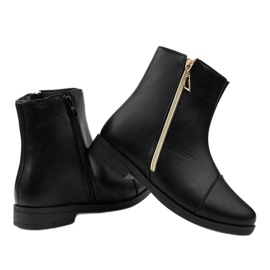 Women's black flat boots CH-7 3