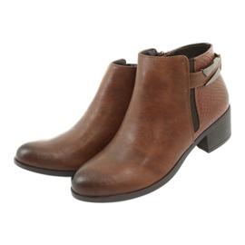 Jodhpur boots with a buckle Daszyński 1919 bronze brown 4