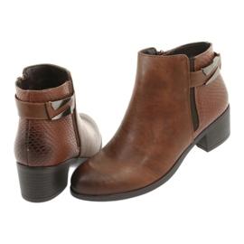 Jodhpur boots with a buckle Daszyński 1919 bronze brown 5