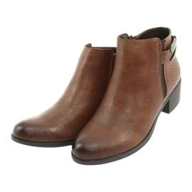 Jodhpur boots with a buckle Daszyński 1919 bronze brown 3