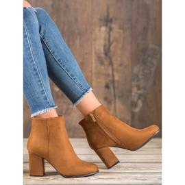 Marquiz Camel suede boots brown 5