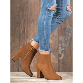 Marquiz Camel suede boots brown 6