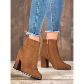 Marquiz Camel suede boots brown 1