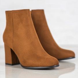 Marquiz Camel suede boots brown 2