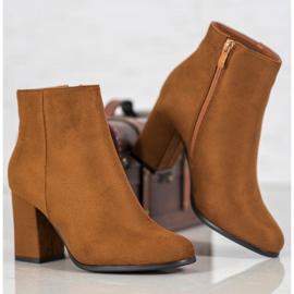 Marquiz Camel suede boots brown 3