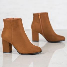 Marquiz Camel suede boots brown 4