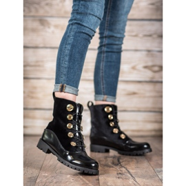 Seastar Velor Booties With Ribbed black 2