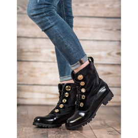 Seastar Velor Booties With Ribbed black 3