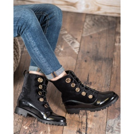 Seastar Velor Booties With Ribbed black 4