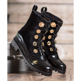 Seastar Velor Booties With Ribbed black 1