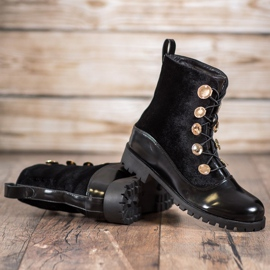 Seastar Velor Booties With Ribbed black 5