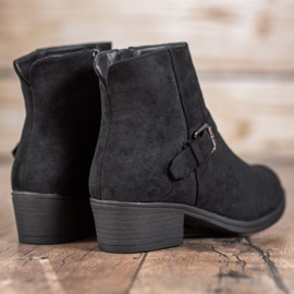 J. Star Suede Booties With Buckle black 2