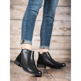 J. Star Flat Heel Boots black 2